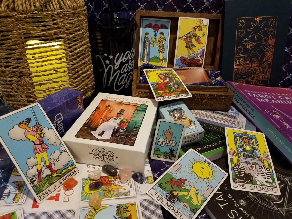 tarot decks and books
