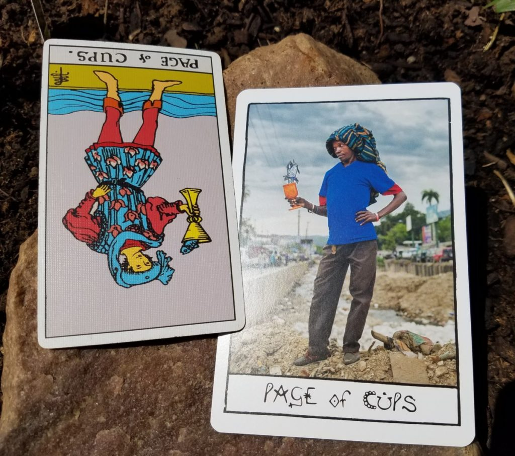 Page of cups ghetto tarot